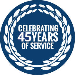 Celebrating 45 years of service
